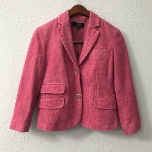 Talbots linen blend tweed like blazer size 4P